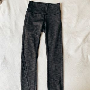 lulu lemon 7/8 heathered grey leggings